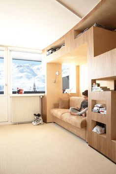 The h2o Architects have just finished designing the interior of a ski resort apartment in Menuires, France
