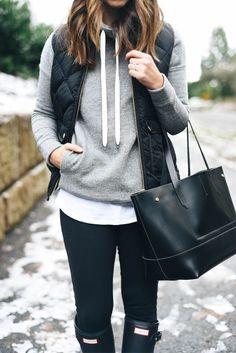 sweatshirt, vest & boots
