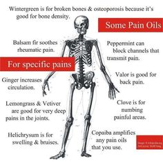 Essential Oils for pain.