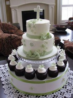 The Couture Cakery • Designer Cakes, Cupcakes, Dessert Table Designs in Central Pennsylvania: 1st Communion Cake