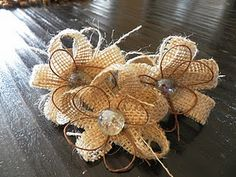burlap flowers from embellishedeachday blog