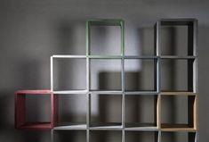 CONCRETE Stapelregal aus Beton. Jetzt auch in Rot-, Grün- Gelb- und Schwarztönen.
