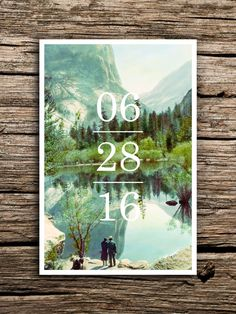 Yosemite Save the Date Postcard // Yosemite National Park Wedding Save the Dates California Postcard Minimalist Vintage Scenic Factory Made by factorymade on Etsy https://www.etsy.com/listing/269857634/yosemite-save-the-date-postcard-yosemite