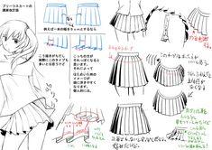 プリーツスカートの描き方 [1]