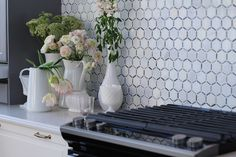 Backsplash -  Florentine White Carrera With Light Bardiglio Line