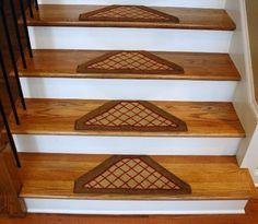Washable Non Skid Carpet Stair Treads U2013 Beige Checkerboard Hexagon (13) At  Http