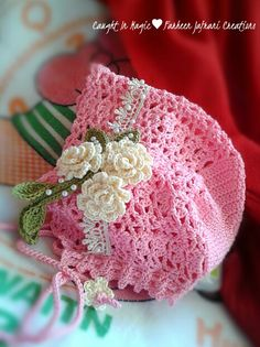 Baby bonnet .. size 3~6 months ♥♥