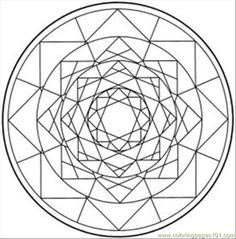 Kaleidoscope Pattern Coloring Pages
