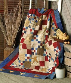 Heres a better picture of the nine patch & four patch stars quilt I will be sewing next.