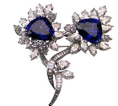 03eb69e0dd6 Smithsonian Jewels SpamPetersen Tanzanite BroochDesigned by Harry Winston  in 1991, this brooch showcases two excellently