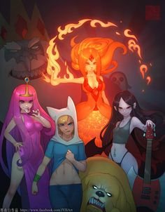 to join Adventure Time fandom on - Hora Cartoon, Cartoon Art, Adventure Time Marceline, Adventure Time Anime, Old Cartoons, Disney Cartoons, Adventure Time Wallpaper, Fan Art, Geek Culture