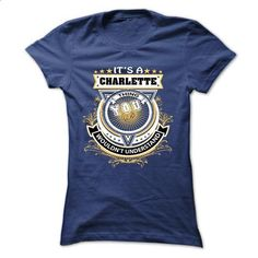 CHARLETTE, Its a CHARLETTE Thing You Wouldnt Understand - wholesale t shirts #vintage tshirt #cool sweater