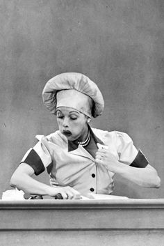 Lucille Ball in I Love Lucy, 1950s. This is the one where Ethel and Lucy work in a chocolate factory.