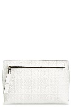 Loewe 'Medium' Logo Embossed Calfskin Pouch available at #Nordstrom