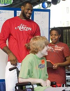 LeBron James grew up and went to school in Akron, Ohio, at St. Vincent-St. Mary Catholic High school, from where I also graduated!