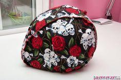 Funda casco calaveras. Disponible en Gaia Chueca - http://www.dresses2kill.com/2013/09/nuevo-punto-de-venta-gaia-chueca.html