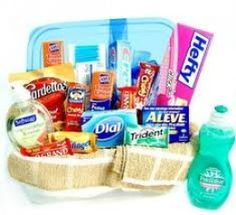 College Gift Baskets If I received any of these for my birthday I would be quite happy :)