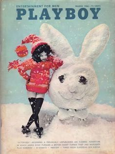 Playboy March 1966 Gift Present Glamour Original Vintage Magazine Playboy, Snow Bunnies, Bunny, Miss March, Vintage Playmates, Strip, Male Magazine, Aesthetic Pictures, James Bond