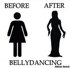Belly Dance humor about before and after pratice bellydancing. Picture of bellydance. #bellydance #joke #dance #belly