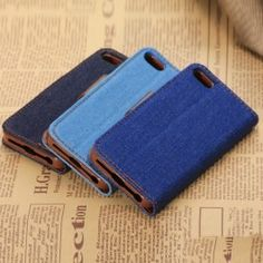 Denim iPhone 5s Cover Wholesale - Black