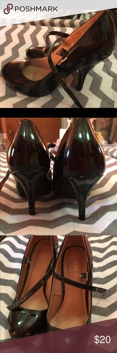 Patent leather Mary Jane pumps Shiny Black patent leather Mary Jane pumps, very cute and comfortable chic great looking shoes brinely Shoes Heels