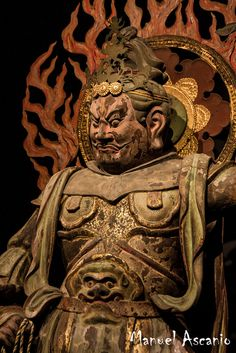 #Buddhist Art | Virūpākṣa is one of the Four Heavenly Kings representing the cardinal direction of the west in Buddhist cosmology. Japon