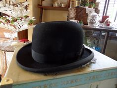 Vintage - 1920's Men's Derby Hat - Aristocrat - Mallory from Chubby Cherub Antiques, Vintage, Collectibles Exclusively on Ruby Lane