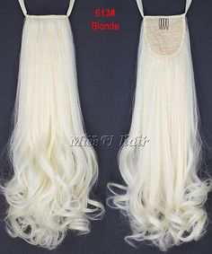"""18"""" 100g Synthetic Long Curly Clip In Ribbon Drawstring Ponytail hair extensions"""