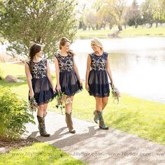 Lace wedding dresses 2018 Planning a country wedding? Our 'Audrey Lace Bridesmaid Dress' is the PERFECT fit and pairs great with boots! Tag a friend who you know would love this dress! Country Style Bridesmaid Dresses, Lace Bridesmaids, Country Wedding Dresses, Wedding Bridesmaid Dresses, Wedding Attire, Prom Dresses, Dresses With Cowboy Boots, Cowgirl Boots, Vintage Wedding Centerpieces