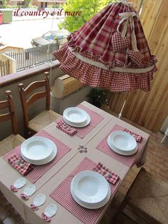 Il country e il mare: the country in the kitchen Shaby Chic, Lampshades, Soft Furnishings, Country Kitchen, Country Decor, Diy Home Decor, Sewing Projects, Holiday Decor, Gingham