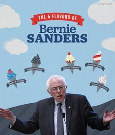 Vermont Senator Bernie Sanders kicked off his presidential campaign at an event featuring Ben & Jerry's ice cream. His plan for government spending is already giving us brain freeze!
