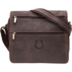 Indianapolis Colts Distressed Double Zip Messenger Bag - Brown - $239.99