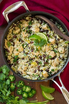 One Pan Cilantro Lime Chicken and Rice with Black Beans | Cooking Classy