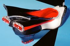 Artsy shoe by Robert Tabor best known for his collection of  Sole Sensations.
