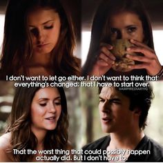 "#TVD 6x01 ""I'll Remember"" - Elena struggles with the death of Damon and she takes herbs to see him again."