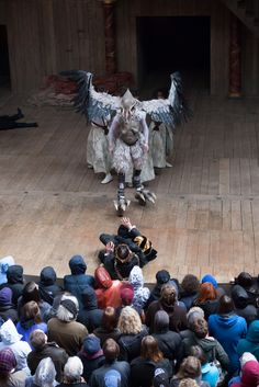 The Tempest ~ The Shakespeare Globe Theather ~ April 2013  Ariel in his Harpy form