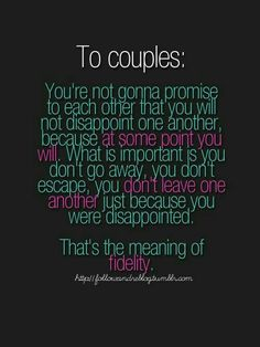 So true!! You've got to stick together even tighter through the hard time!!
