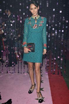 Amanda Strang attends the Gucci show during Milan Fashion Week Spring/Summer 2017 on September 21, 2016 in Milan, Italy.