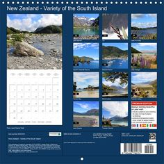 New Zealand – Variety of the South Island, Planner Sheet: Index