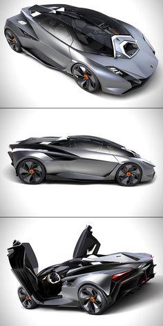 Lamborghini Perdigon Unveiled, is Jet Fighter-Inspired - TechEBlog