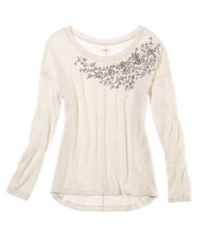 Aerie Embroidered Sweatshirt T $39.95. It was so much cuter in person