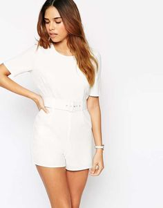Love the ASOS Occassion Textured Romper with Self Belt on Wantering.