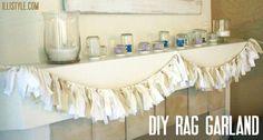 DIY No Sew Rag Garland Tutorial - illistyle.com