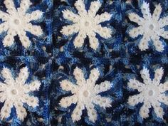Icy Snowflake Afghan Free Crochet Pattern - Right Handed - YouTube