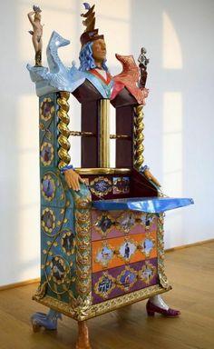 Luigi, Sandro Chia, Ceramic Materials, Sculpture Art, Contemporary Art, Objects, Clock, Ceramics, Traditional