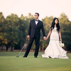 Christian Louboutins, A Priscilla of Boston Gown & Pinehurst Golf Course = One Stunning Wedding
