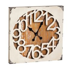 Vintage Style Shabby Chic Square Clock By Evergreen Enterprises #EvergreenEnterprises #ShabbyChic