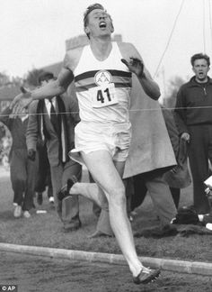 "Roger Bannister breaking the 4-minute barrier. ""Running has given me a glimpse of the greatest freedom a man can ever know."""