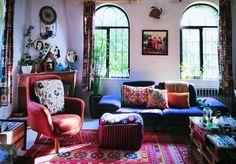 The Ultimate Guide to Create a Cozy Bohemian Home Hippie Home Decor, Boho Decor, Boho Chic Bedding, Bohemian Interior Design, Wooden Cabinets, Estilo Boho, Modern Bohemian, Eclectic Decor, Inspired Homes