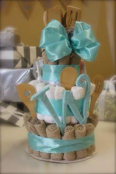 DIY bridal shower gift cake